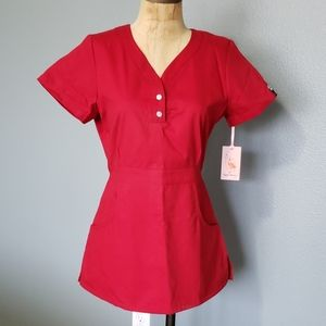 Koi Nursing scrub top short sleeve with pockets